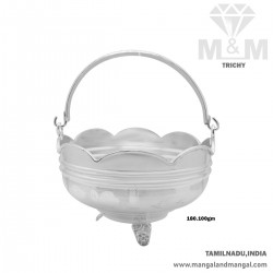 Fabled Silver Pooja Basket
