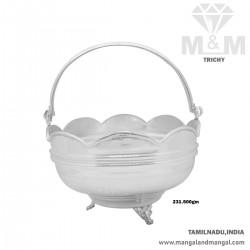 Treasured Silver Pooja Basket