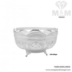Venerable Silver Pooja Basket