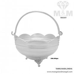 Prolific Silver Pooja Basket