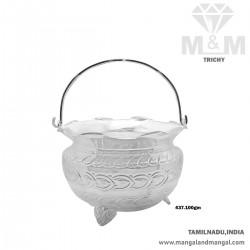 Archetypal Silver Pooja Basket