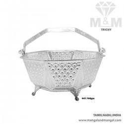 Mythical Silver Pooja Basket