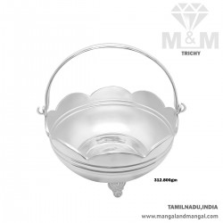 Indelible Silver Pooja Basket