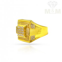 Vivid Gold Casting Stone Ring