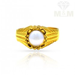 Famous Gold Pearl Ring