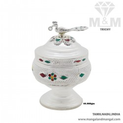 Alluring Silver Fancy Kumkum Chimizh