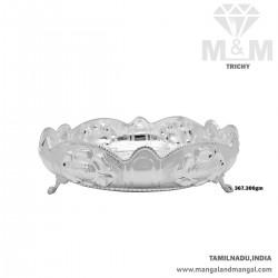Jazziest Silver Fancy Plate