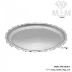 Posh Silver Fancy Plate