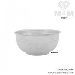 Elegant Silver Fancy Bowl