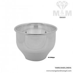 Esthetic Silver Fancy Bowl