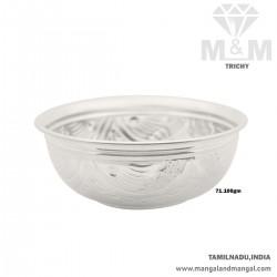 Impressive Silver Fancy Bowl