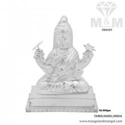 Adorable Silver Lord Lakshmi Idol