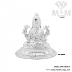 Aesthetic Silver Lord Lakshmi Idol