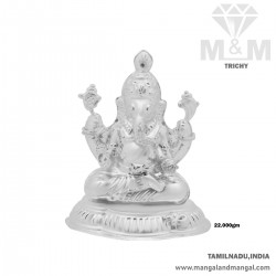 Beauteous Silver Lord Ganesha Idol