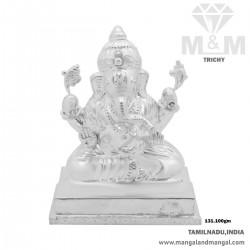 Canny Silver Lord Ganesha Idol