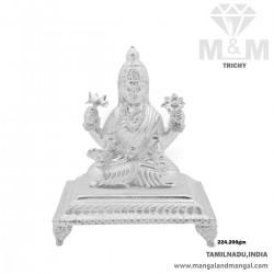 Dainty Silver Lord Lakshmi Idol