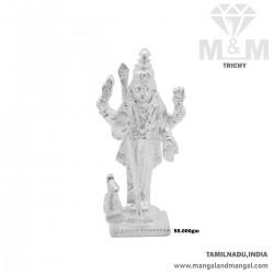 Divine Silver Lord Murugan Idol