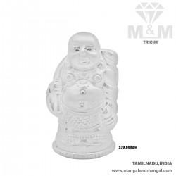 Favourable Silver Kubera Idol