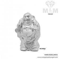 Glamorous Silver Kubera Idol