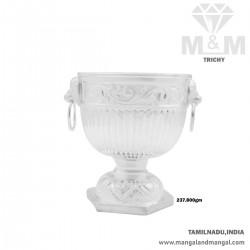 Graceful Silver Fancy Bowl