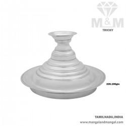 Verdant Silver Karpoora Plate