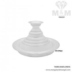 Alluring Silver Karpoora Plate