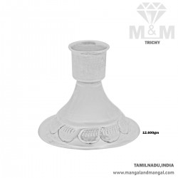 Mannerly Silver Candle Stand