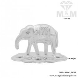Sumptous Silver Elephant Idol