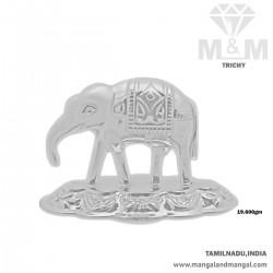 Delicious Silver Elephant Idol