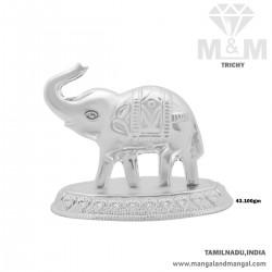 Ethereal Silver Elephant Idol