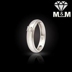 Vivid Platinum Diamond Ring
