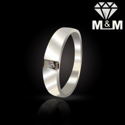 Artful Platinum Diamond Ring