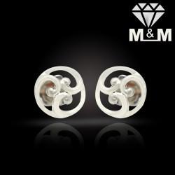 Bright Platinum Fancy Earring