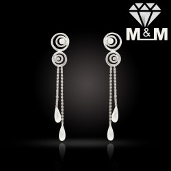 Amiably Platinum Fancy Earring