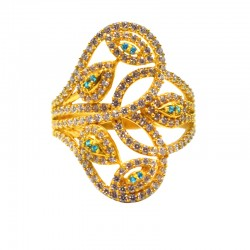 Gorgeous Gold Fancy Stone Ring