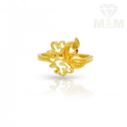 Lush Gold Casting Peacock Ring