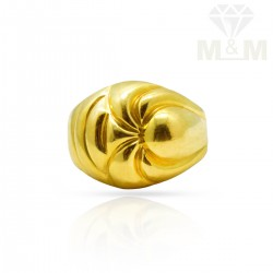 Artful Gold Casting Ring