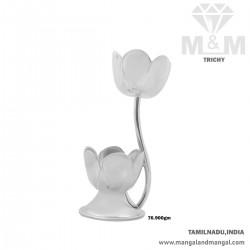 Prettiest Silver Flower Vase