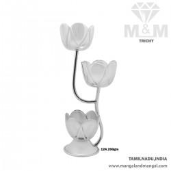 Majestic Silver Flower Vase