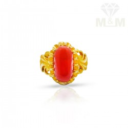Verdant Gold Fancy Coral Ring