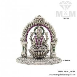 Sweetest Silver Antique Lakshmi Idol