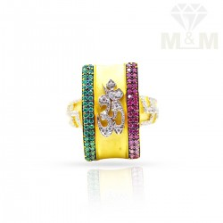 Captivate Gold Casting Om Ring