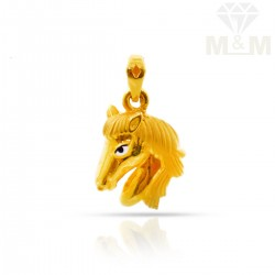 Exotic Gold Horse pendant