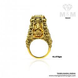 Charming Gold Men Ganesha Ring