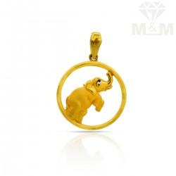 Famous Gold Elephant Pendant