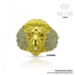 Fantastic Gold Men Lion Ring