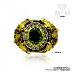 Incredible Gold Men Stone Ring