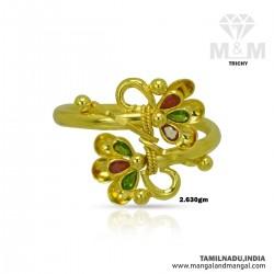 Charming Gold Women Fancy Ring