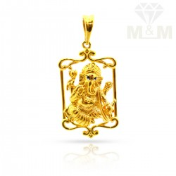 Perfect Gold Ganesh Pendant
