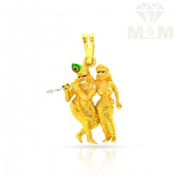 Enormous Gold Krishna Pendant
